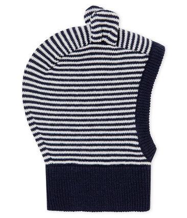 Pasamontañas para bebé unisex azul Smoking / blanco Marshmallow