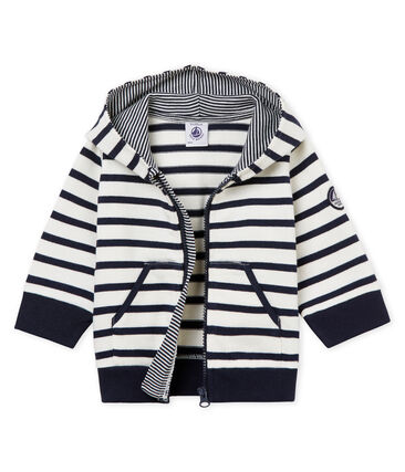 Sudadera con capucha de rayas marineras para bebé niño
