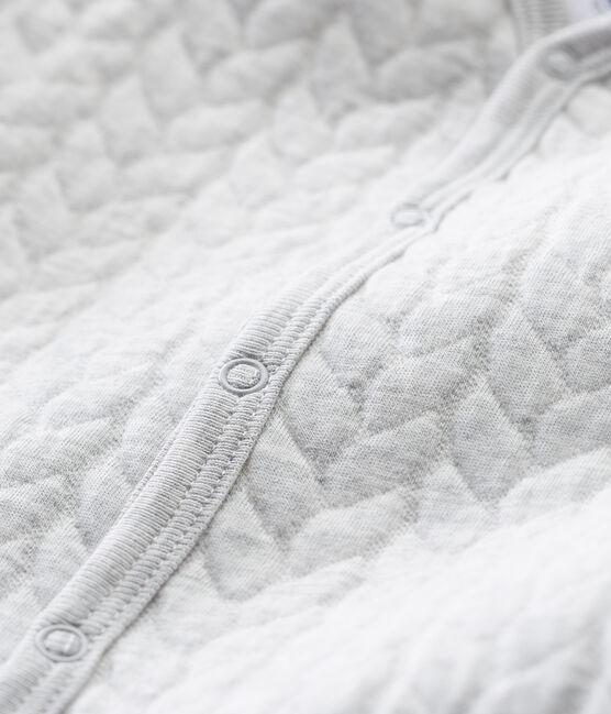 Pijama unisex de bebé sin pies en túbico gris Beluga