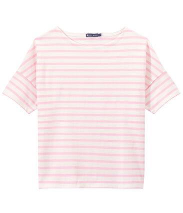 Marinera de manga corta en jersey para mujer