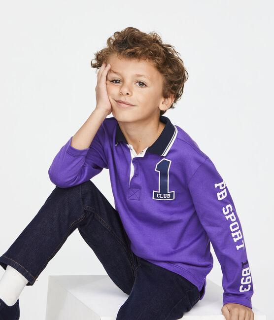 Polo de niño violeta Real