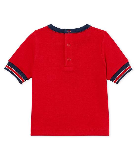 Camiseta manga corta con motivos para bebé niño rojo Terkuit