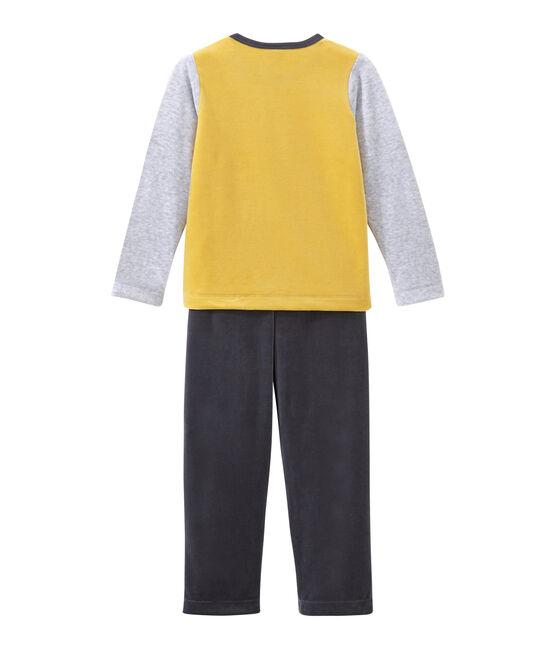 Pijama para niño gris Maki / blanco Multico
