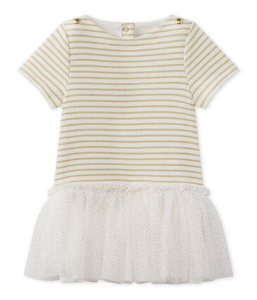 Vestido de bebé niña de manga corta