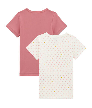 Pack de 2 camisetas de manga corta para niña lote .