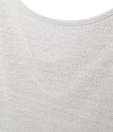 Camiseta de lino con cuello redondo