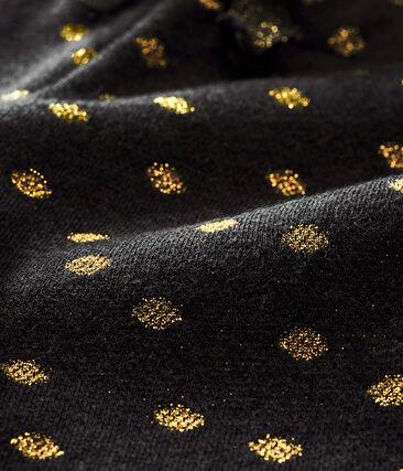 Pantalón para bebé niña estampado con lunares dorados