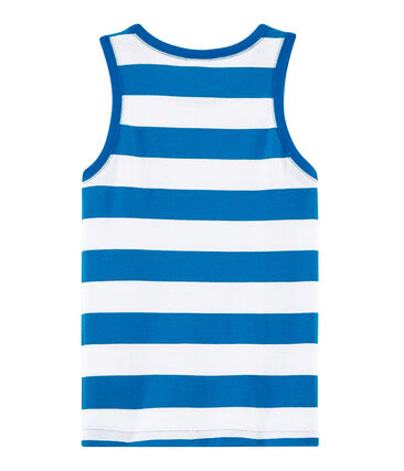 Camiseta de tirantes infantil para niño azul Riyadh / blanco Marshmallow