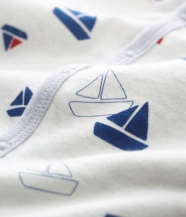 Pelele de tejido túbico para bebé niño blanco Marshmallow / blanco Multico