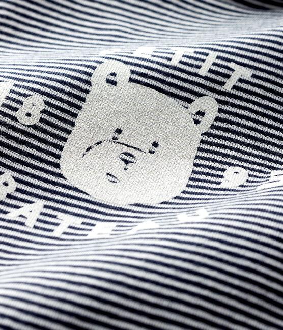 Bodi de manga larga con cuello de tortuga para bebé azul Smoking / blanco Marshmallow