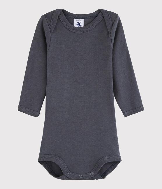Bodi de manga larga de bebé niña/niño gris Maki