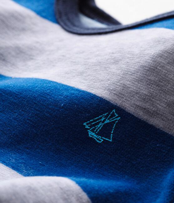 Pelele de noche para bebé niño azul Limoges / gris Poussiere