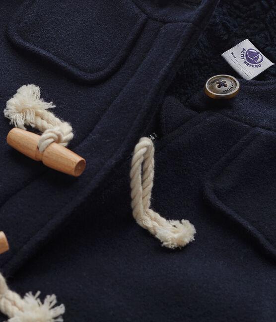 Abrigo de lana para niño azul Smoking