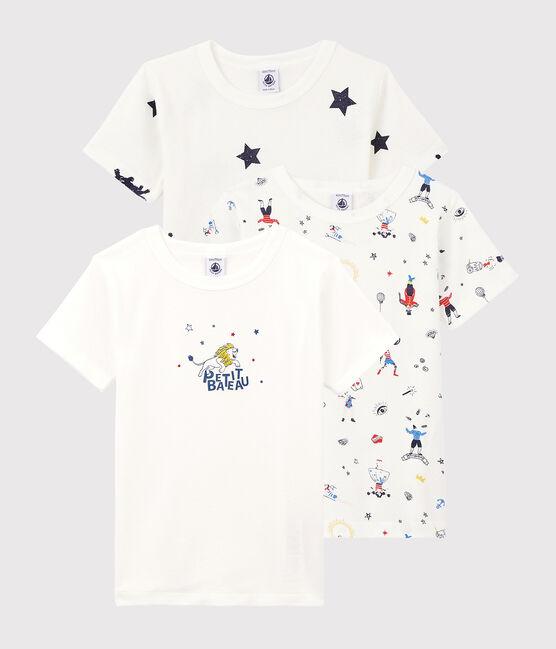 Juego de 3 camisetas de manga corta con estampado festivo de niño pequeño lote .