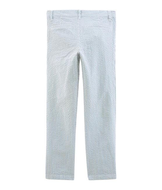 Pantalón infantil para niño azul Fontaine / blanco Marshmallow