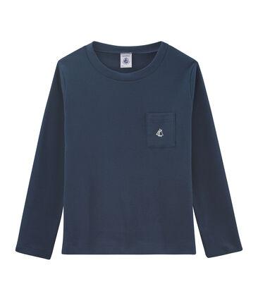Camiseta de manga larga para niño azul Haddock