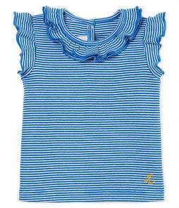 Blusa manga corta de rayas para bebé niña
