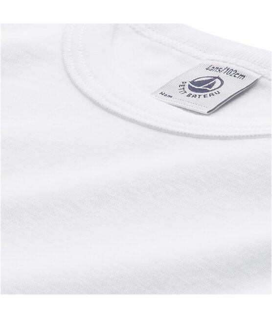 Camiseta de niño de manga larga blanco Lait