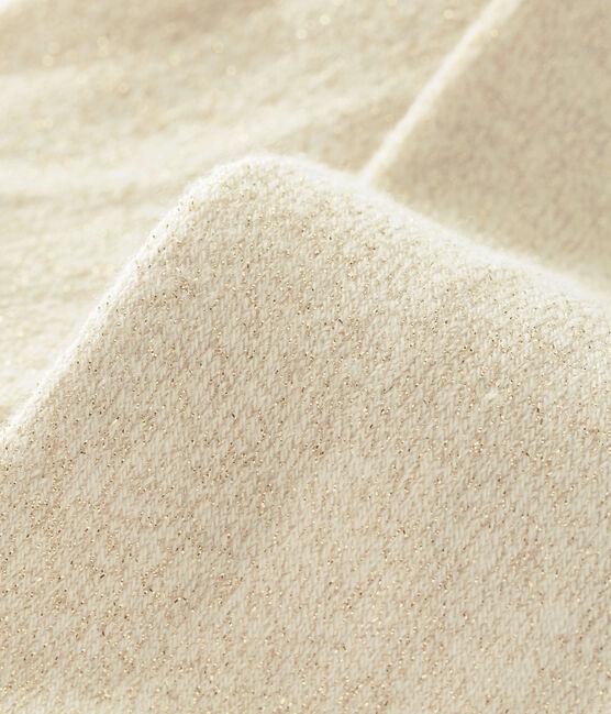 Leotardos brillantes para bebé niña blanco Marshmallow / amarillo Dore