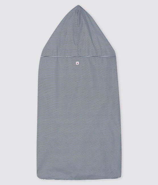 Protector para mochila portabebés de rayas azul Smoking / blanco Marshmallow