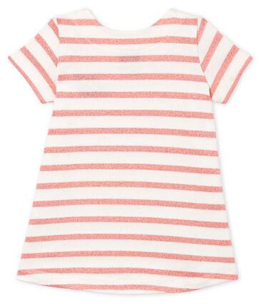 Vestido de manga corta a rayas para bebé niña