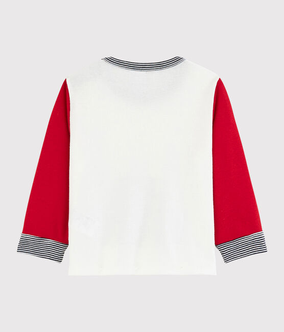Camiseta «color block» para bebé niño blanco Marshmallow / rojo Terkuit