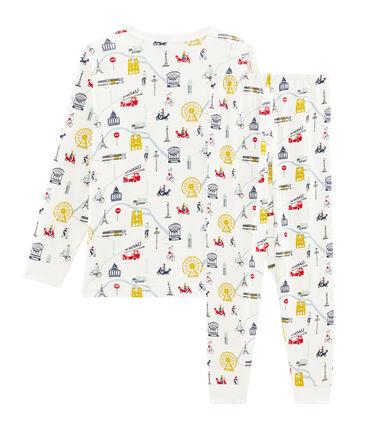 Pijama de punto para niño blanco Marshmallow / blanco Multico