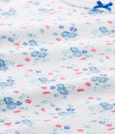 Camiseta estampada para niña blanco Ecume / azul Bleu