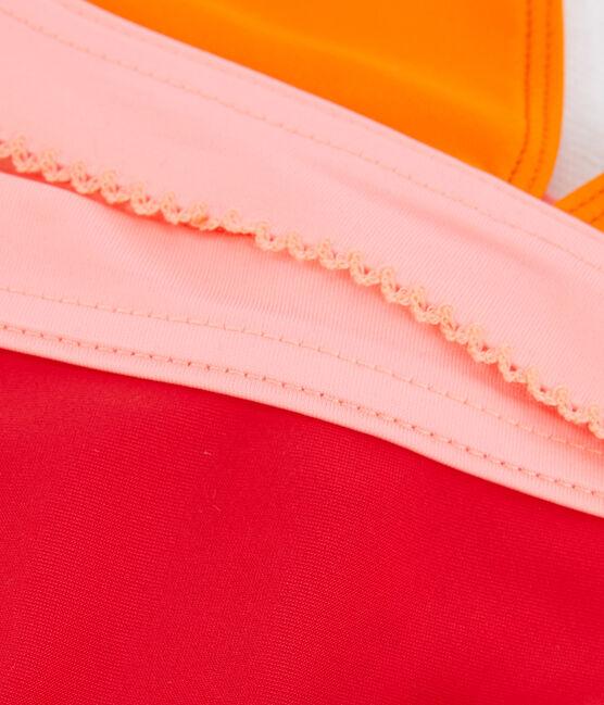 Traje de baño de 2 piezas ecorresponsable para niña naranja Tiger / blanco Multico