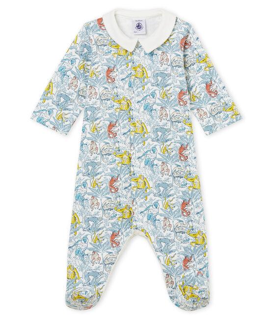 Pelele de terciopelo para bebé niño blanco Marshmallow / blanco Multico