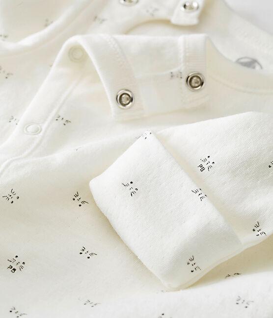 Saco para bebé mixto en túbico estampado blanco Marshmallow / negro Noir