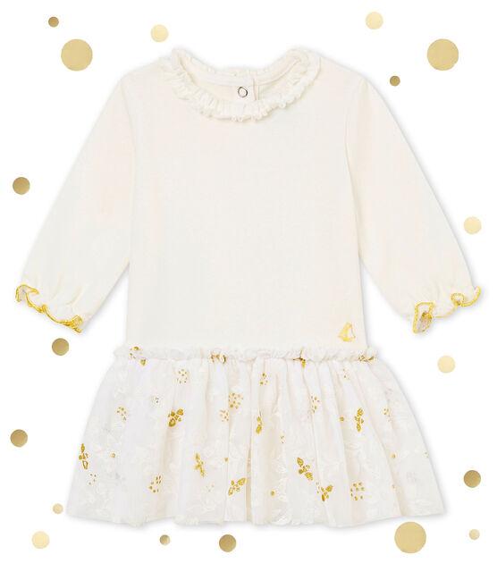 Vestido en tull para bebé niña blanco Marshmallow / blanco Multico
