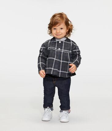 Cárdigan de cuadros para bebé niña negro City / blanco Multico