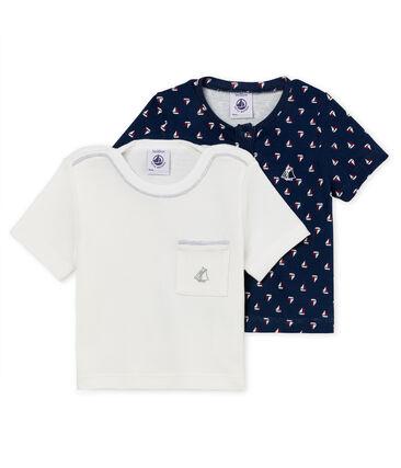 Lote de 2 camisetas manga corta para bebé niño