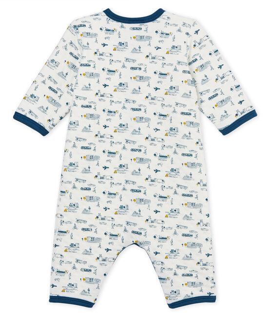 Pelele sin pies de tejido túbico para bebé niño blanco Marshmallow / blanco Multico