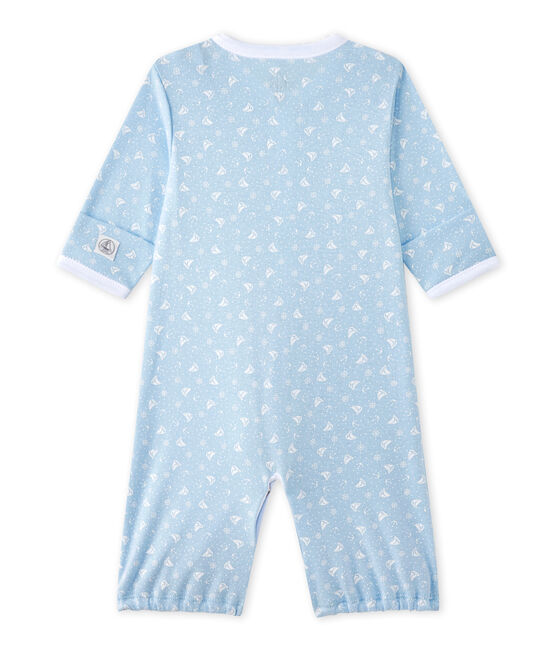Saco bebé mixto 2 en 1 azul Toudou / blanco Ecume
