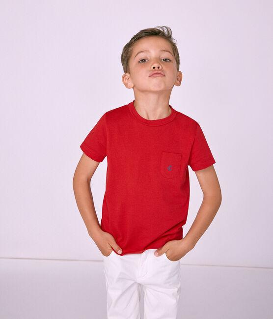 Camiseta manga corta infantil para niño rojo Terkuit
