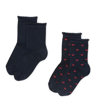 Lote de 2 pares de calcetines para niña lote .