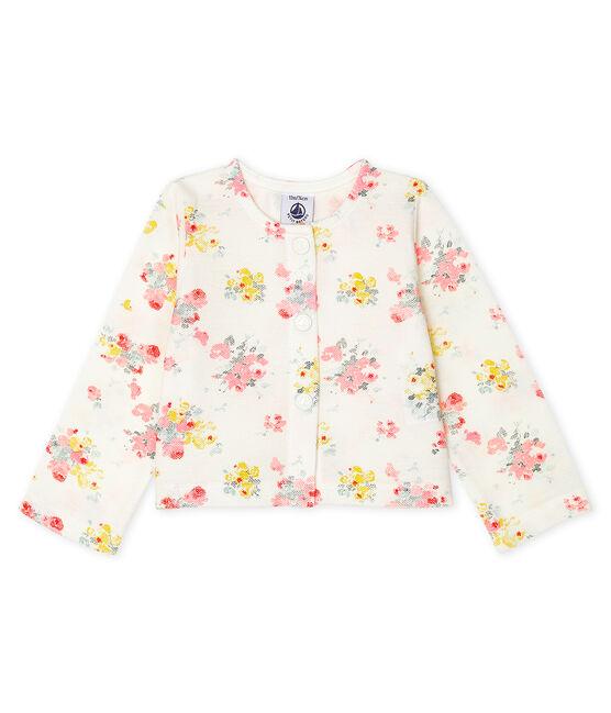 Cárdigan estampado para bebé niña blanco Marshmallow / blanco Multico