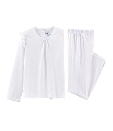 Pijama de algodón fino para niña