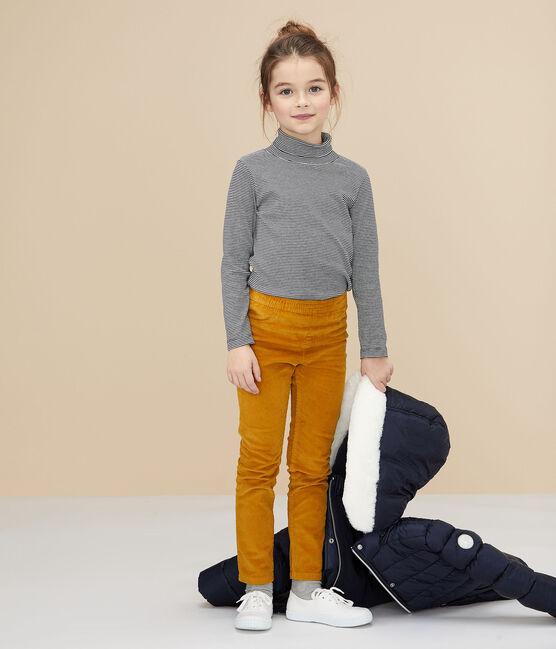 Jersey de cuello alto para niña/niño azul Smoking / blanco Marshmallow