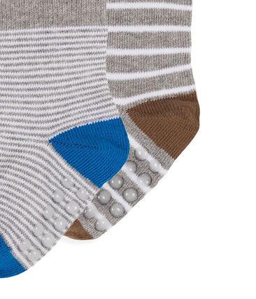 Lote de 2 pares de calcetines para bebé niño blanco Marshmallow / gris Subway