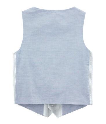 Chaleco sin mangas de niño azul Fontaine / blanco Marshmallow