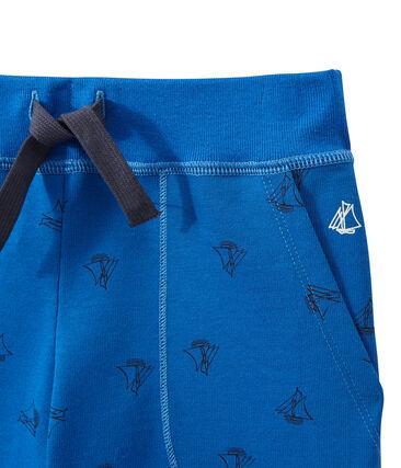 Bermuda en jersey tupido para niño azul Perse / azul Smoking