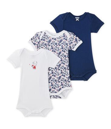 476a576b5 Lote de 3 bodies de manga corta para bebé niña