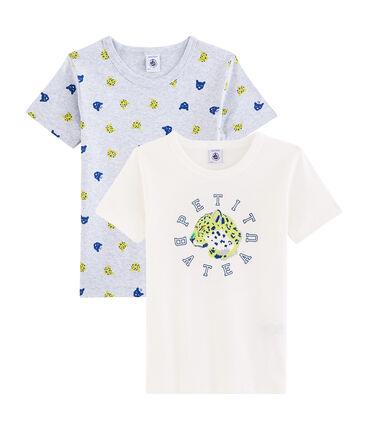 Par de camisetas para niño lote .