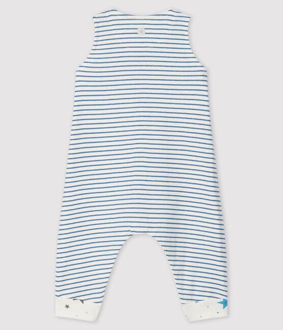 Peto largo a rayas de túbico para bebé niño blanco Marshmallow / gris Tempete