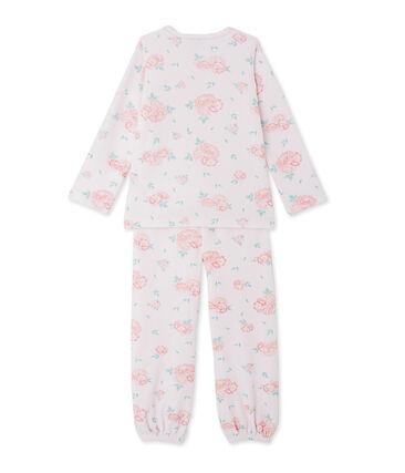 Pijama de terciopelo floreado para niña