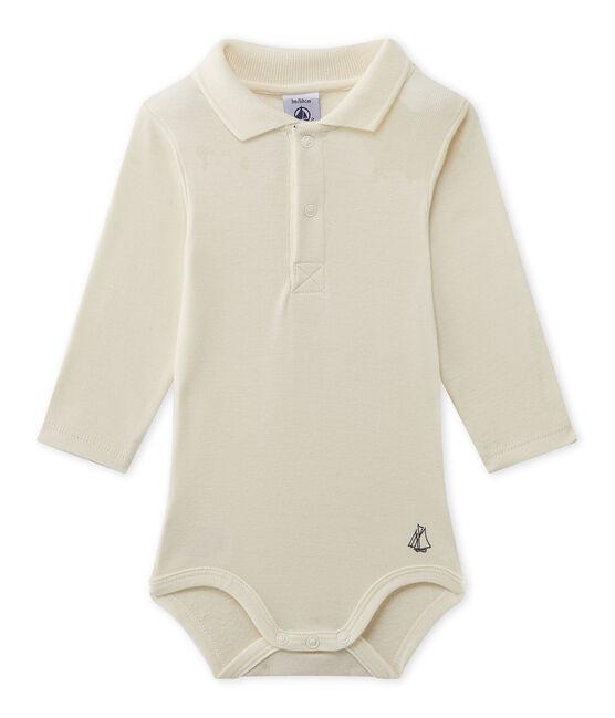 Body bebé de niño con cuello beige Coquille