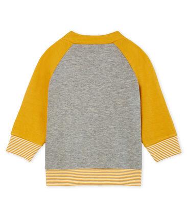 Cárdigan de tela túbica con cremallera para bebé niño gris Subway / amarillo Boudor